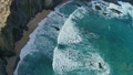 Aerial view on Atlantic coast with rock and waves 50106714