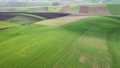 Aerial of hilly agricultural fields in Morocco 50106723