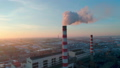 Air pollution from industrial plants aerial view 50156227