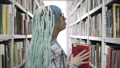Hipster Woman Reading A Book In Library 50177762