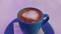 Hot cappuccino on the table. 50206380