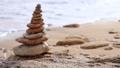 Pebble Pyramid and Defocused Morning Surf. Seamles 50294293