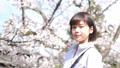 桜と女性のポートレート 50335903