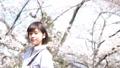 桜と女性のポートレート 50344073