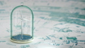 Windmill in sea under glass bulb on water . 3D FullHD 50364117