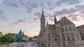 Budapest Hungary city skyline sunset time lapse 50370839
