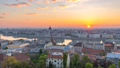 Budapest Hungary city skyline sunrise time lapse 50370841