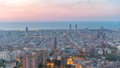 Barcelona Spain city center skyline time lapse 50370843