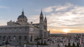 Madrid Spain time lapse at Catedral de la Almudena 50370847