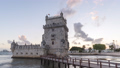 Lisbon Portugal skyline time lapse at Belem Tower 50370850