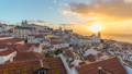 Lisbon Portugal city skyline time lapse at Alfama 50370851