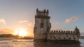 Lisbon Portugal skyline time lapse at Belem Tower 50370852
