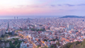 Barcelona Spain city center skyline time lapse 50370854
