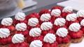 Strawberry cake making 50375737
