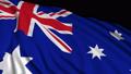 Australian flag in slow motion 50389719