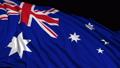 Australian flag in slow motion 50389721