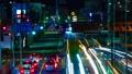 タイムラプス インターバル撮影 東京 環八通り 練馬 谷原交差点周辺 夜景 光跡 望遠 ティルト 50401938