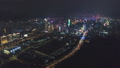Shenzhen City at Night. Futian District and Shenzhen Bay. China. Aerial View 50413477