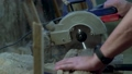Circular saw. Industrial hand circular saw. saw at work 50449367