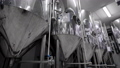 camera is moving along shine modern tank for mashing malt for brewing beer in brewery plant 50471205