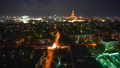 Aerial view of Moscow at night. Illuminated city streets 50476028
