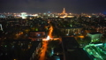 Aerial view of Moscow at night. Illuminated city streets 50476030