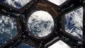 view from the porthole of the space station on planet earth 50493775