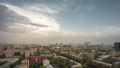 Panoramic view of the building from the roof of center Moscow 50499065