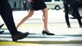 出勤、ビジネスマン、ビジネス、歩く、足元、革靴、靴、脚、足、ハイヒール、男性、女性、ビジネスウーマン 50579032