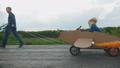 airplane, cardboard, boy 50730963