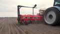 close-up, tractor with special precision planters, seeder is working in the field, agricultural 50733784