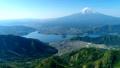 新道峠から富士山と河口湖を空撮 50748275