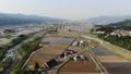 무인 항공기 공중 촬영 니가타 현 미나미 우 오누시 펼쳐지는 논밭 50749503