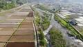 무인 항공기 공중 촬영 니가타 현 미나미 우 오누시 펼쳐지는 논밭 50749507