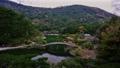 日本庭園の木でできたアーチ状の橋が有名な香川県の栗林公園 50826672