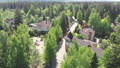 View from height of private residential buildings in a pine forest in Russia 50846996