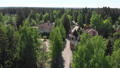 View from height of private residential buildings in a pine forest in Russia 50847003