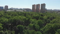 The Cityscape in Khimki city and Tolstogo park from above. Russia 50854460