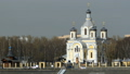 temple of Russian Orthodox church with golden cros 50955003