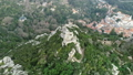 Aerial around view of Moorish Castle, Portugal 50958048