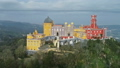 Aerial around view of Pena Palace, Portugal 50958049