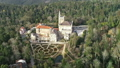 Aerial of park and palace of Bussaco, Portugal 50958052