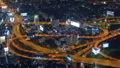 Aerial view on illuminated roads in Bangkok 50958058