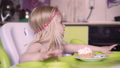 child is naughty at the table and refuses to eat. 51017963