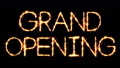 Grand Opening Text Sparkler Glitter Sparks Firework Loop Animation 51344261