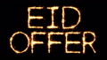 Eid Offer Text Sparkler Glitter Sparks Firework Loop Animation 51344301