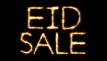 Eid Sale Text Sparkler Glitter Sparks Firework Loop Animation 51344302