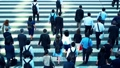 Attendance, businessman, business, salaried worker, morning, rush, commuting, walking, crosswalk, intersection, men, suit 51671344