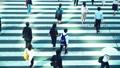 Attendance, businessman, business, salaried worker, morning, rush, commuting, walking, crosswalk, intersection, men, suit 51671671