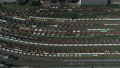 Train station with freight trains and containers in aerial view. Aerial shooting top down footage of 51828523